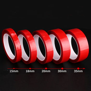 Waterproof 5-35mm Transparent Silicone Double Sided Tape Sticker For Car High Strength No Traces Adhesive