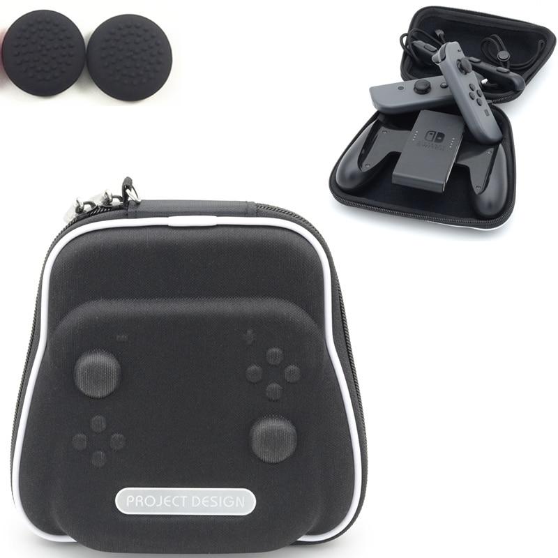 Portable Voyage Carry Housse Pour Nintendo Nintend Commutateur NS Console Sac de Transport Contrôleur Gamepad Joie-con Accessoire + 2 caps
