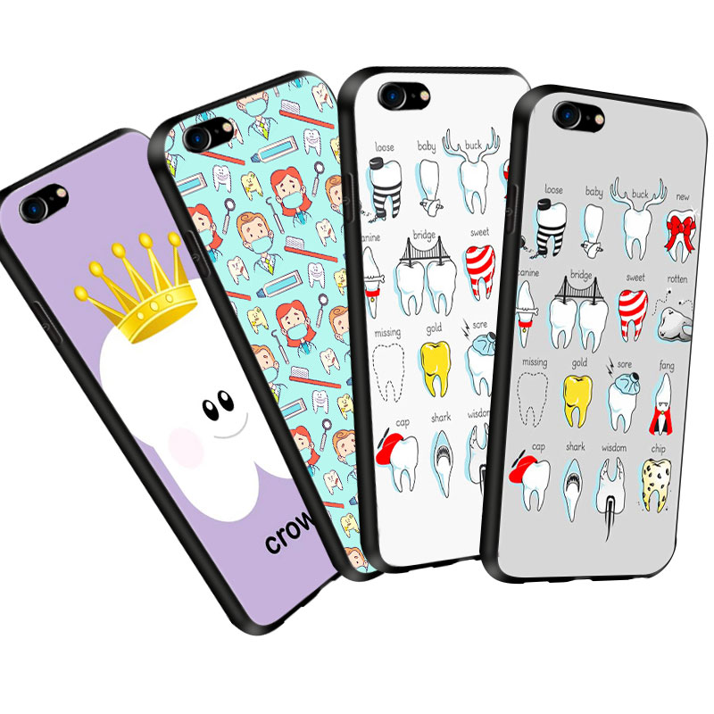 Phone Bags & Cases Nice Teeth Doctor Dentist Phone Case Soft Silicone Case For Iphone 6s Phone Cases For Iphone X 5s Xr Xs Max 6 6s 7 8 Plus Cover Smoothing Circulation And Stopping Pains Cellphones & Telecommunications