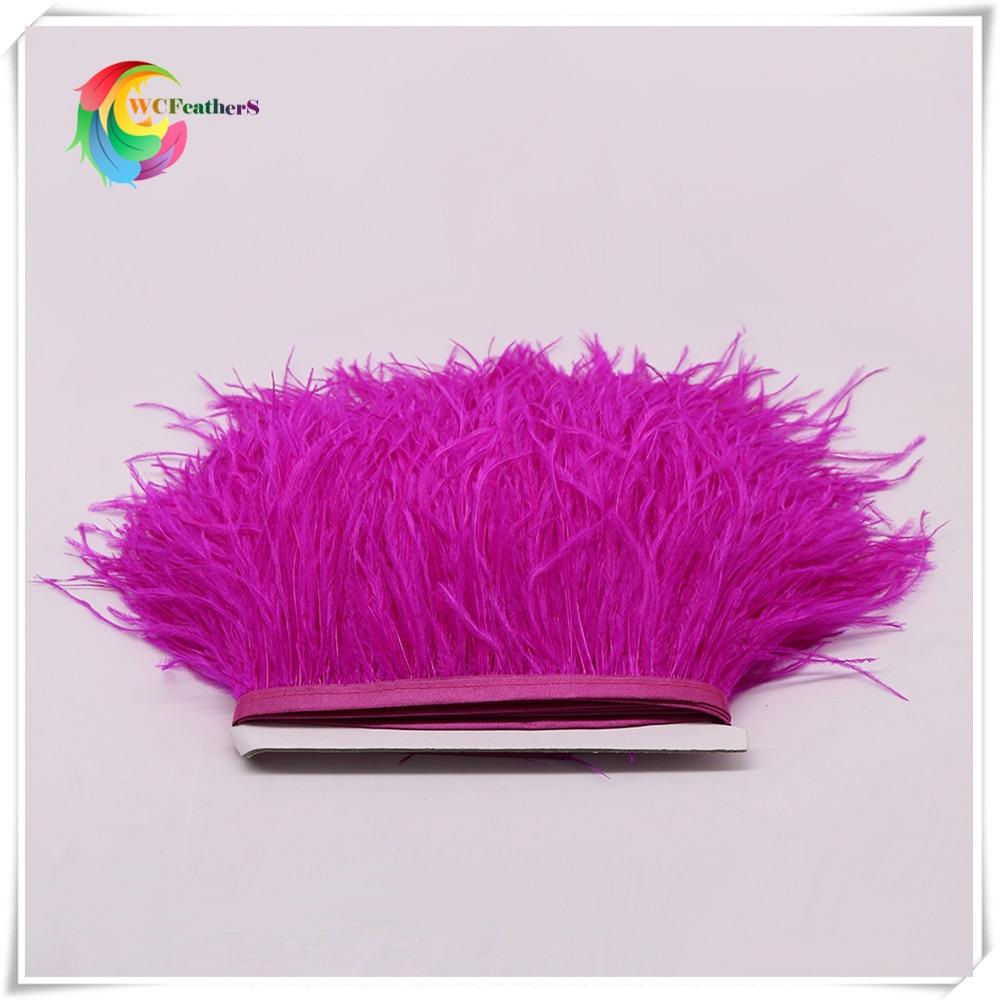 1 метр 32 цвета обрезки из натуральных перьев страуса высота 8-10 см Перья ленты для DIY свадьба на праздник, украшение для платья Ремесло - Цвет: O4 Rose