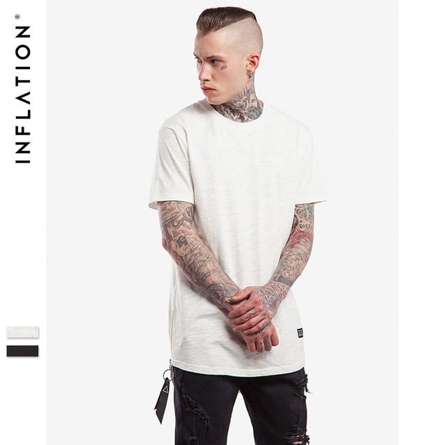 INFLATION 2017 Latest t shirts Side Zipper Men s Extended Tees Organic  Bamboo Tee Shirts Urban Streetwear T shirts 0162S17 8a5368492f3