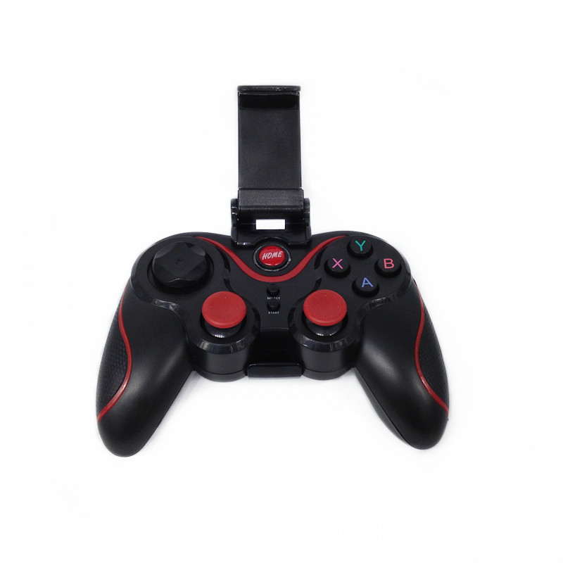 S3 Wireless Bluetooth 3.0 Gamepad Joystick Game Controller for Android Smartphone iphone Mobile Phones PC TV BOX Holder Incl