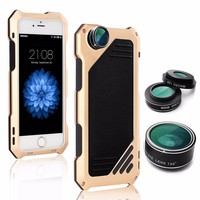 Fisheye Wide lensmetal protective shell for iphone 5 s se 2 Anti drop dust and water Diving photography cover For iphone 5 case