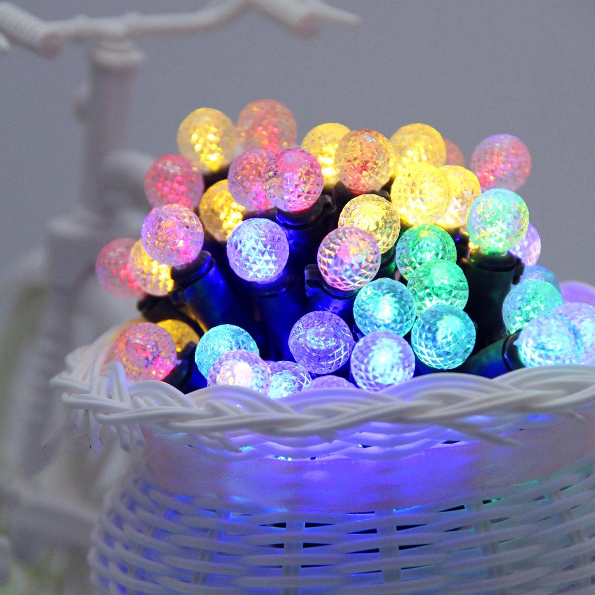 Binval Solar LED Lights 50 LEDs Holiday Lighting Garden Decor Solar Powered Garden Fairy Lights Led Decoration Lights Colorful