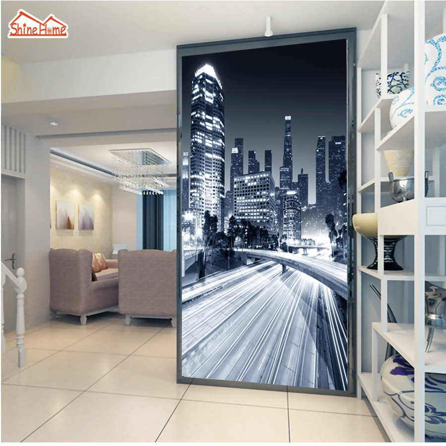 ShineHome-City Road Black and White Abstract Wallpaper for 3 d  Living Room Wall Mural for 3d Rooms Walls Wallpapers Murals Roll shinehome sunflower bloom retro wallpaper for 3d rooms walls wallpapers for 3 d living room home wall paper murals mural roll