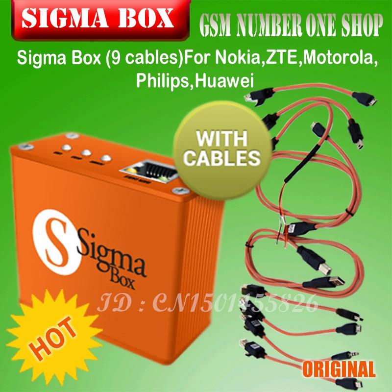 Gsmjustoncct Sigma Box Unlock Box And Repair Tool +9 Cables China Mobile Software Box For Motorola And Other Phone P15