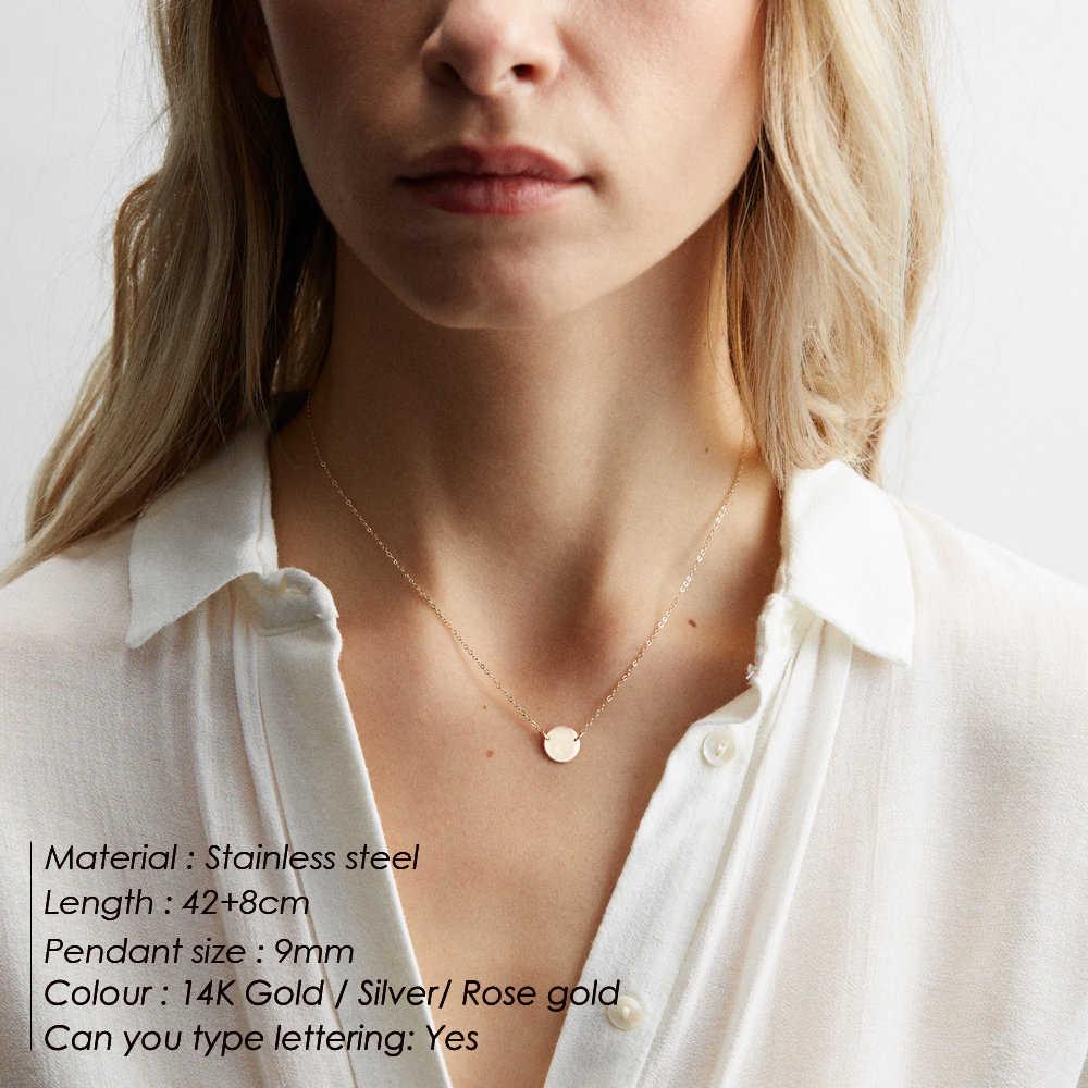 E-Manco изысканное ожерелье из нержавеющей стали женское многослойное колье-чокер золотого цвета Кулоны ожерелье для женщин