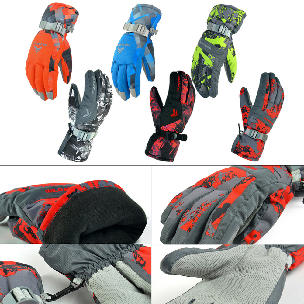 Winter Outdoor Men Women Ski Skiing Snowboard Gloves Snowmobile Motorcycle Gloves for Riding Climbing Drop shipping