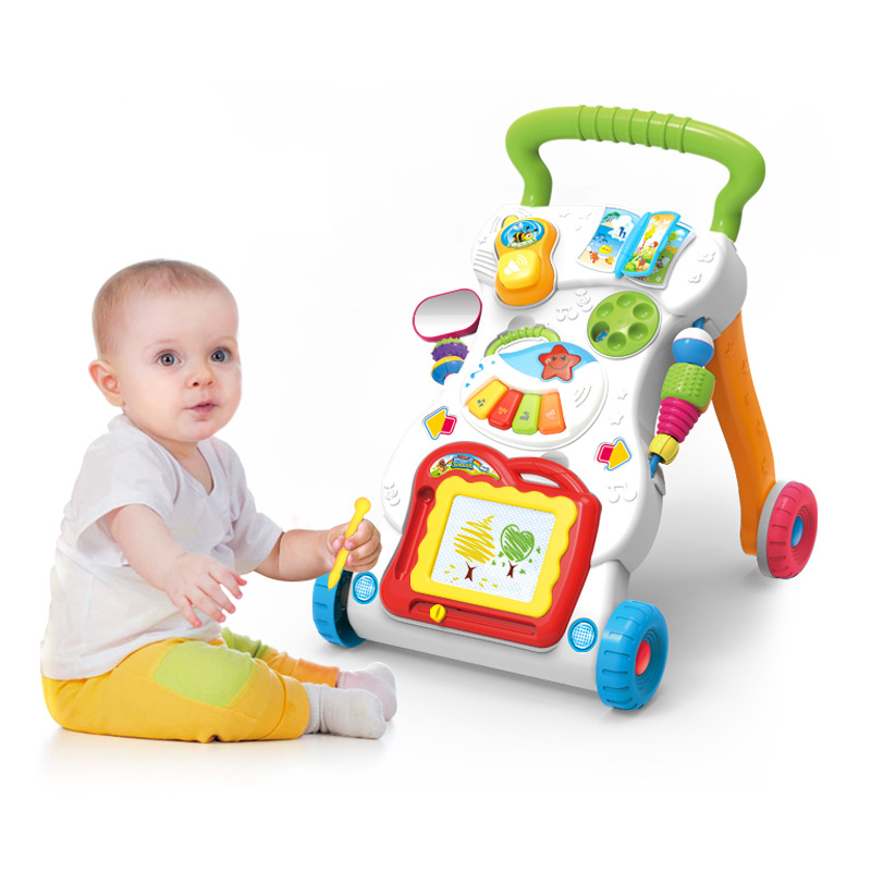 Early Learning Adjustable Musical Baby Sit And Stand