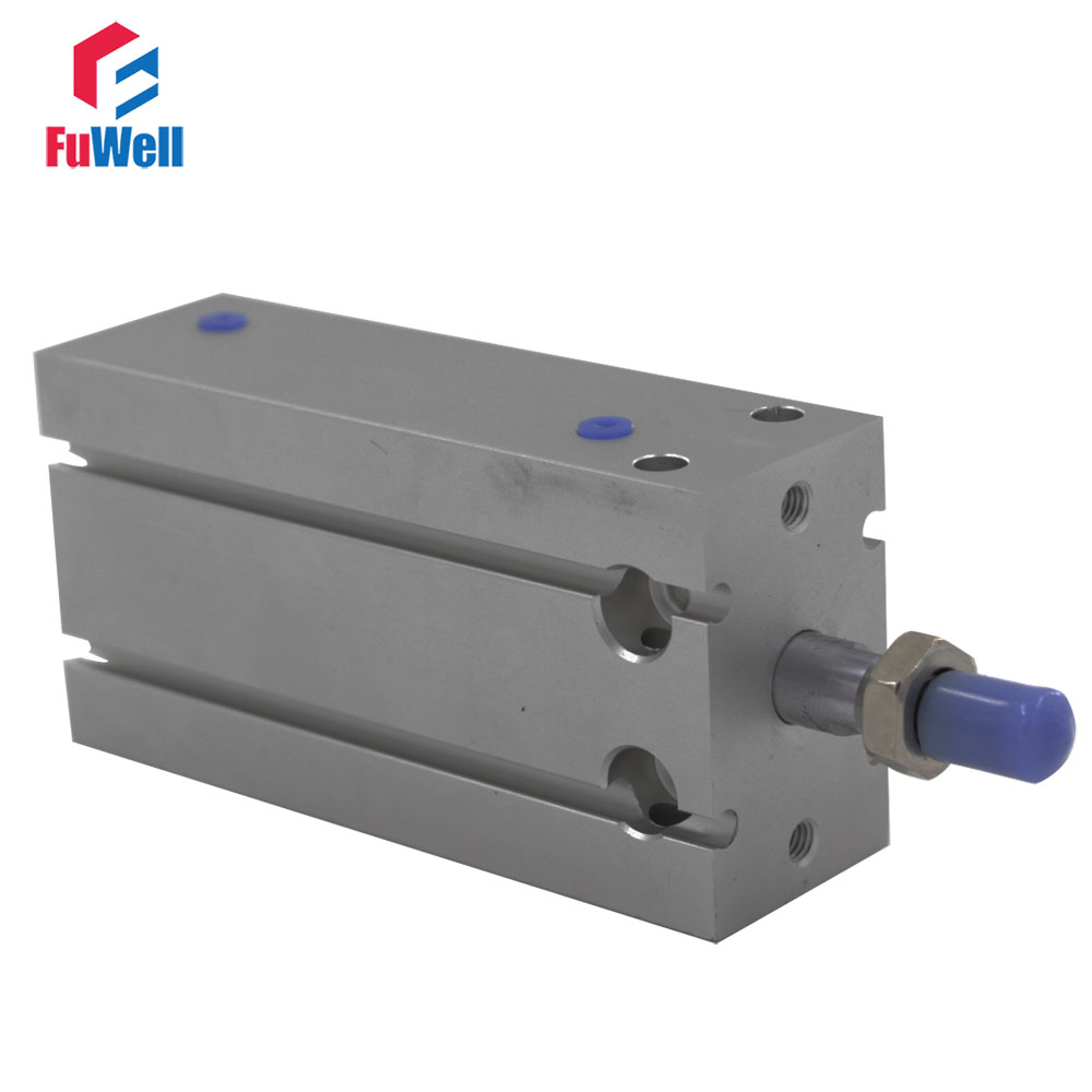 Aluminum Alloy CDU Type Pneumatic Air Cylinder 16mm Bore 16x5/10/15/20/25/30mm Stroke Double Acting Pneumatic Cylinder free shipping cdu 25 5 male thread single rod air pneumatic cylinder cdu 25x5