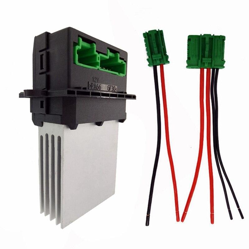Résistance de ventilateur de climatisation + connecteur/fil pour Renault citroën Megane scénic Clio PEUGEOT 207 607 6441 L2 6441L2 7701207718