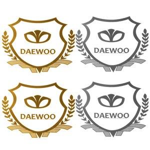 2PCS Excellent 3D metal car sticker Emblem Badge case For Daewoo Logo Winstom Espero Nexia Matiz Lanos Accessories Car Styling(China)