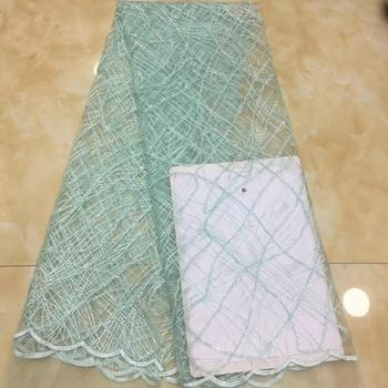 Madison African Lace Fabric French Tulle Lace Fabric High Quality Dubai Embroidery Lace Nigerian French Cord Lace With Sequin