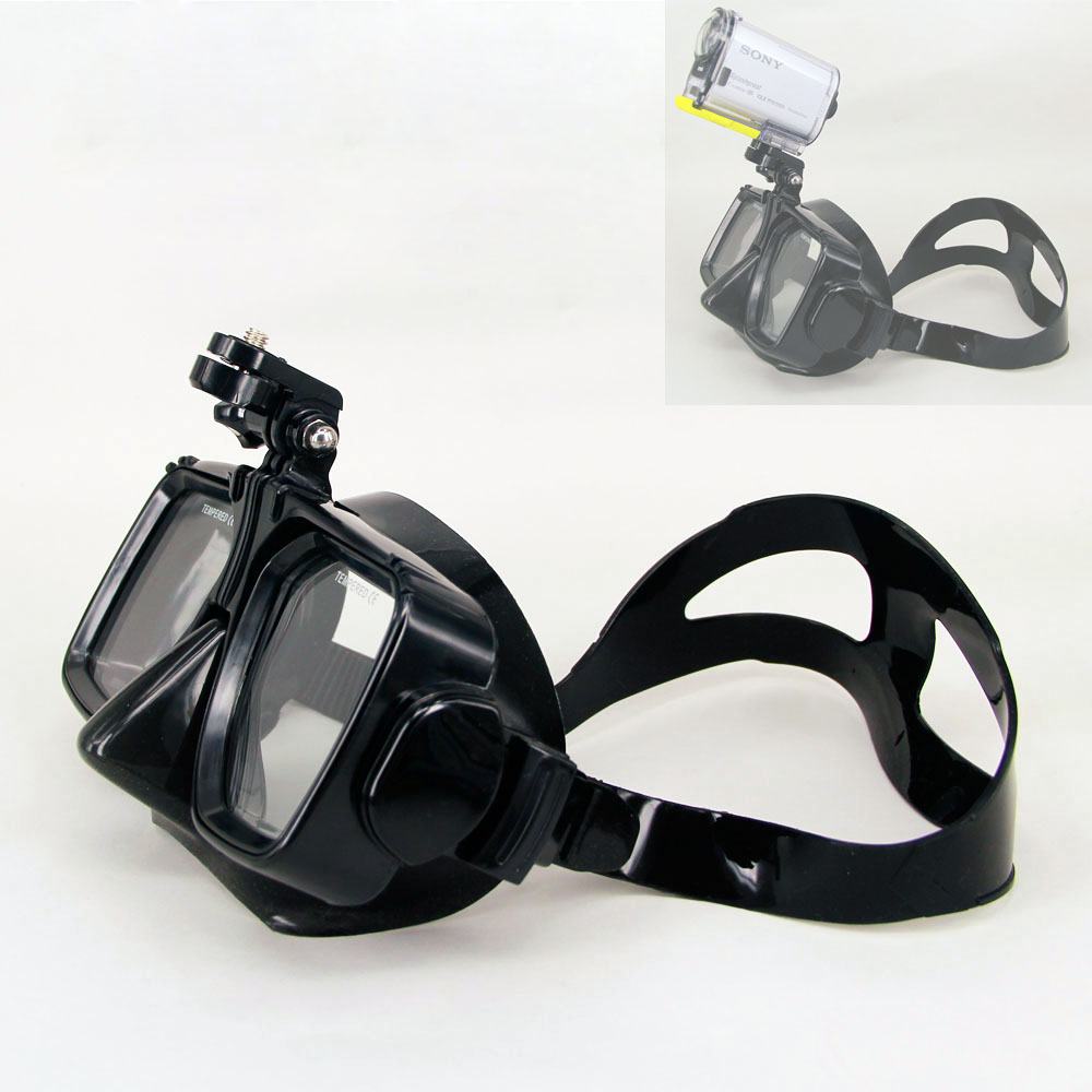 Scuba Diving Mask Snorkel Swimming Tempered Glasse For Sony HDR-AS200V AS300R AS100V FDR-X3000R HDR-AS50 Sport Action Cam