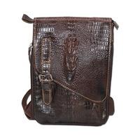 New Cheap Alligator Genuine Leather Casual Bag Men S Shoulder Bag Small Messenger Bag Travel Bags