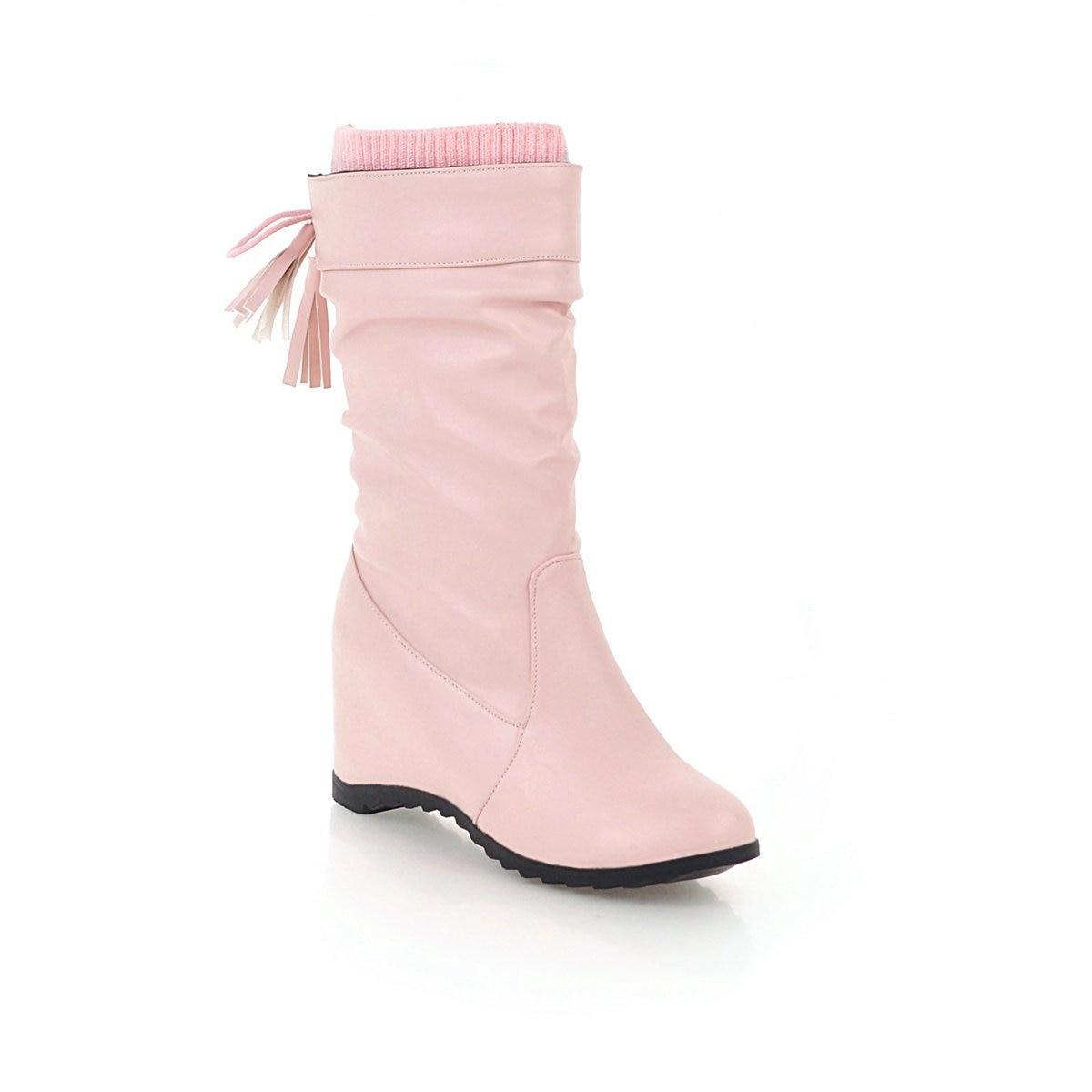 La Cuñas De Invierno rosado Marea Zapatos blanco Botas Negro 40 Las Nuevos Tamaño Tubo En Con 181106 2018 Casuales Gran El Productos Mujeres 43 FPwaq