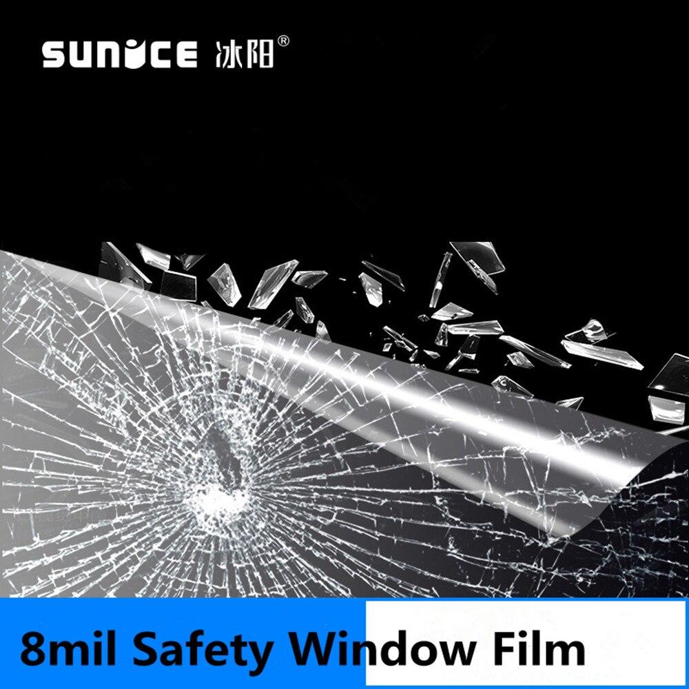 8mil прозрачная защитная пленка для окна, небьющаяся защита стекла, защита от трещин, безопасность для строительства автомобиля, оконная мебе... - 6