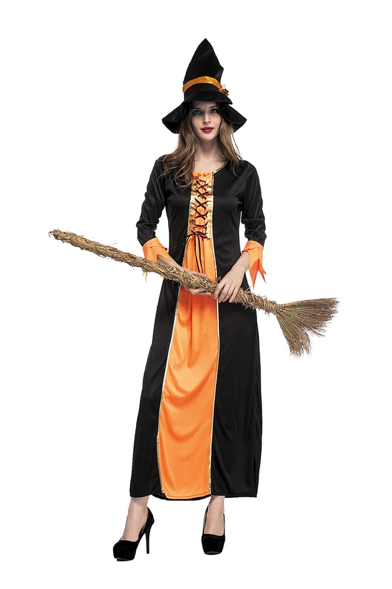 aliexpress  buy orange adult women witch long dress