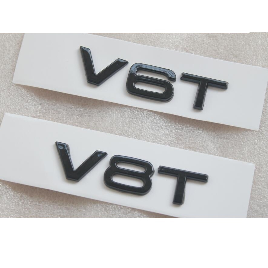 2019 New Style V6t V8t V10t V12t Glossy Black Letter Number Emblem Car Styling Fender Side Trunk Badge Logo Sticker For Audi Ttrs Q3 Q5 A7 A8l Back To Search Resultsautomobiles & Motorcycles Exterior Parts