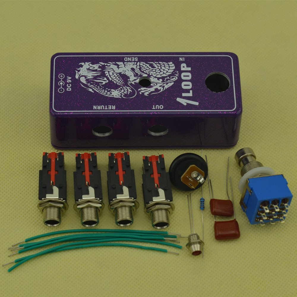 DIY True-Bypass MINI AB Box Pedal Kits For Guitar Effect Pedal With 1590A Free Shipping