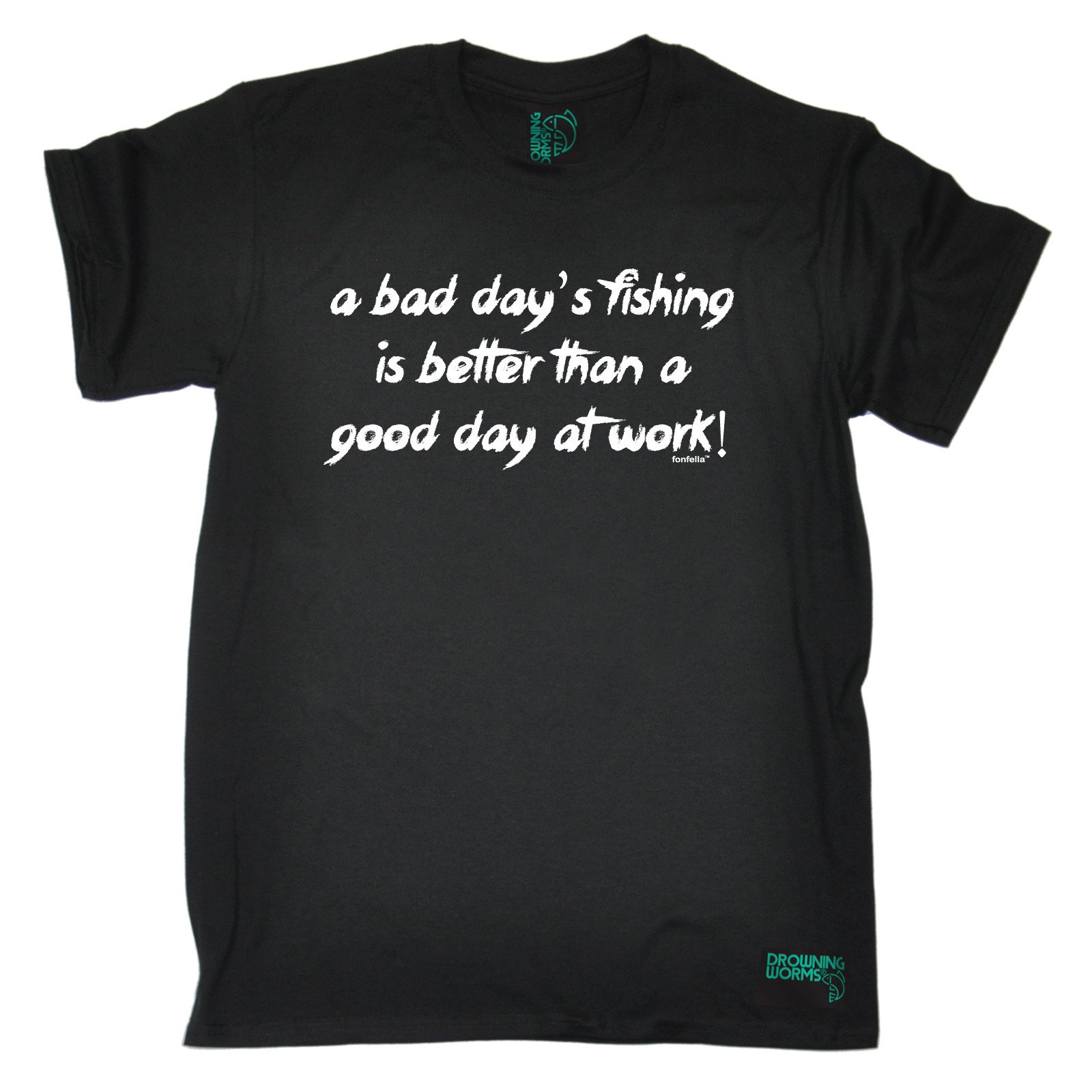 A Bad Days Fishinged Better Than Good Day At Work T-SHIRT Tee Gift birthday funny