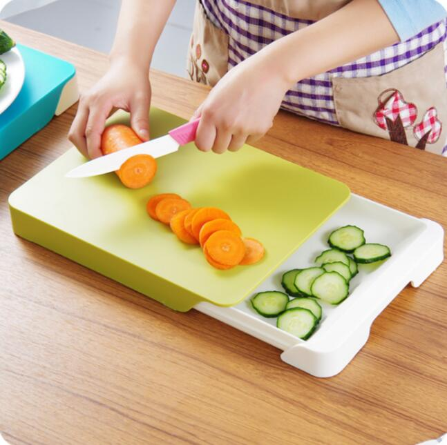 Multifunctional Drawer Storage Cutting Board Double Layer