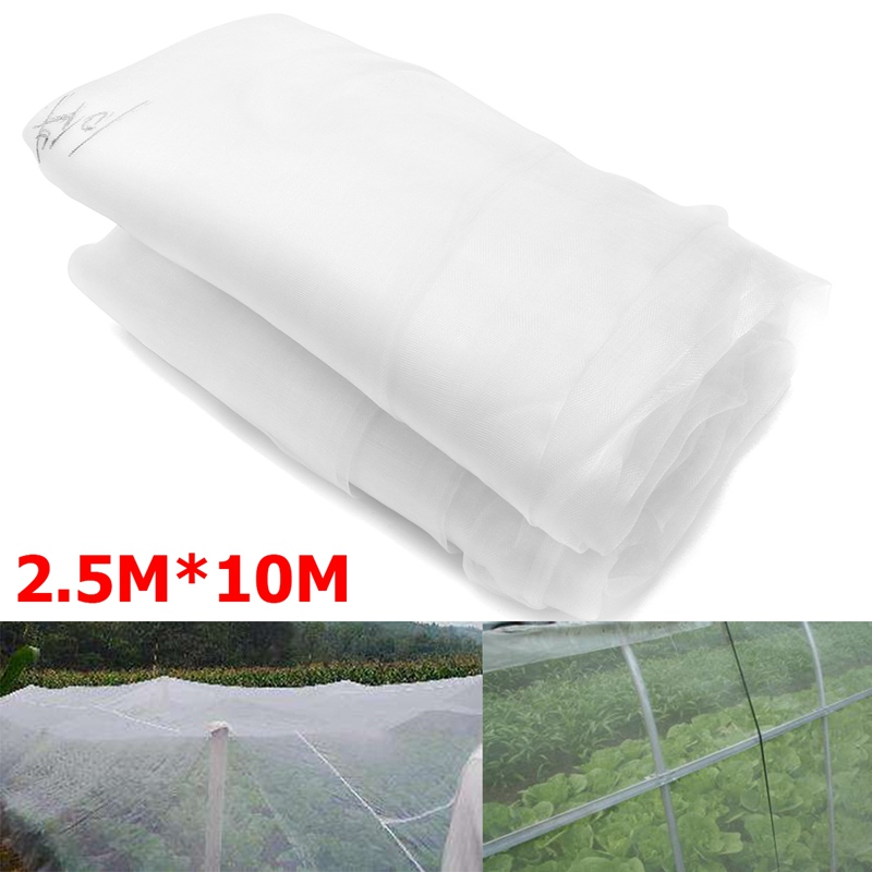 KiWarm Top Grade Vegetable Netting Mesh Insect Mosquito Anti Bird Net Garden Crop Vegetable Protection Fine Mesh Cloth 2.5*10m