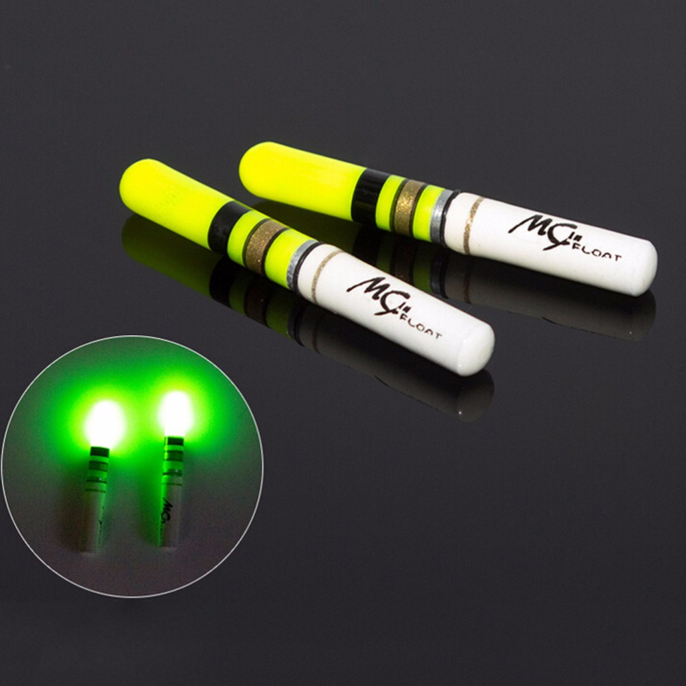 Delicious Green Red Fishing Luminous Float Battery Operated Led Float For Dark Water Night Fishing 3.7*0.46cm Neither Too Hard Nor Too Soft