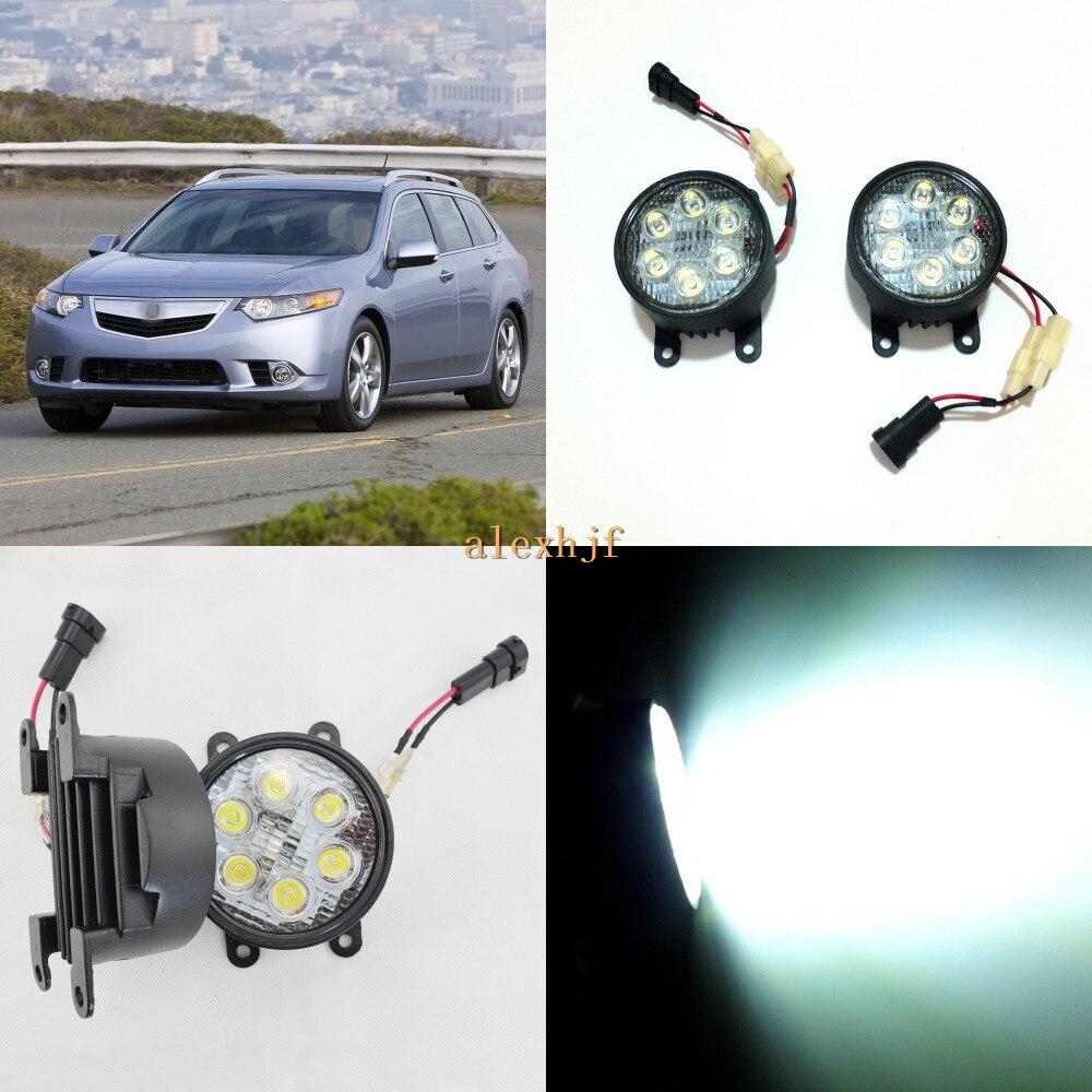 July King 18 W 6 LED s H11 LED boîtier de montage de feux de brouillard pour Acura TSX 2011 ~ 2014, 6500 K 1260LM LED feux de jour