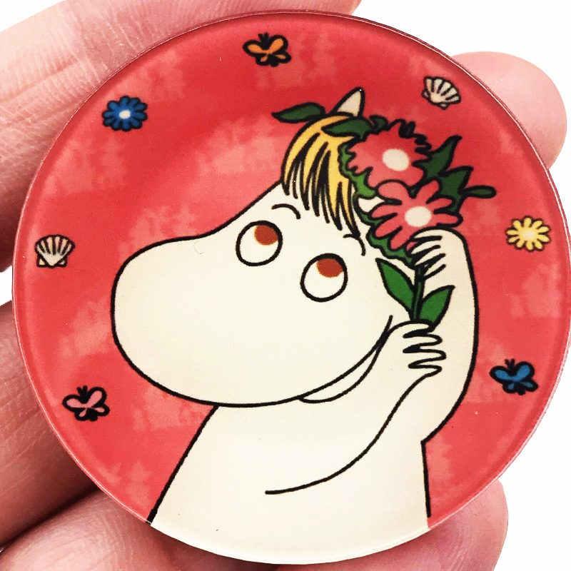 1 ชิ้นฮิปโปดอกไม้สัตว์อะนิเมะป้ายฮาราจูกุ Acrylic หมุดป้ายแจ็คเก็ตกระเป๋าเป้สะพายหลังเด็กกระเป๋าป้ายอุปกรณ์เสริมสำหรับเด็ก