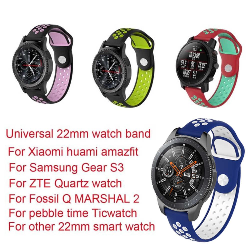 プレミアムシリコンリストストラップ Zte クォーツ/化石 Q マーシャル gen2/ギア S3 Ticwatch Xiaomi LG W100 腕時計ストラップ