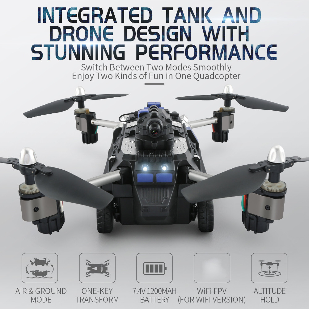 RC TOY JJRC H40WH 2.4G 4CH 6 Axis Wifi Hover RC Quadcopter Drone Tank with 720P Camera original jjrc h28 4ch 6 axis gyro removable arms rtf rc quadcopter with one key return headless mode drone
