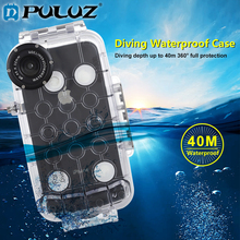 PULUZ 40m/130ft Waterproof Case For iPhone 7 8 7P 8P XR XS MAX Huawei P20 P20 Pro Galaxy S9 s9+ Diving Underwater Cover Case 3500 40m page 8