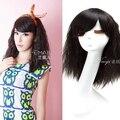 45 см Мода Новый Стильный Женщины Леди Сексуальная Синтетические Волосы Черные Короткие Вьющиеся Парик