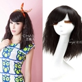45cm Fashion New Stylish Women Lady Party Sexy Synthetic Hair Black Short Curly Wig