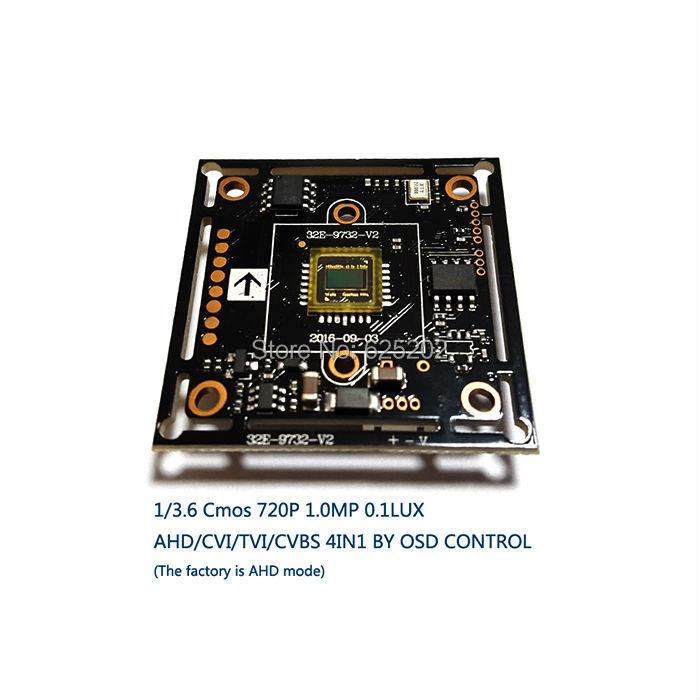 цены AHD/CVI/TVI/CVBS 4 in 1 1/3.6  CMOS Module  720P 1.0MP  with  OSD function V20E+OV9732