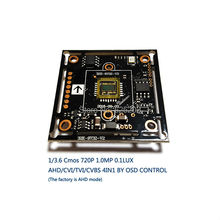 AHD/CVI/TVI/CVBS 4 in 1 1/3.6 CMOS Module 720P 1.0MP with OSD function V20E+OV9732