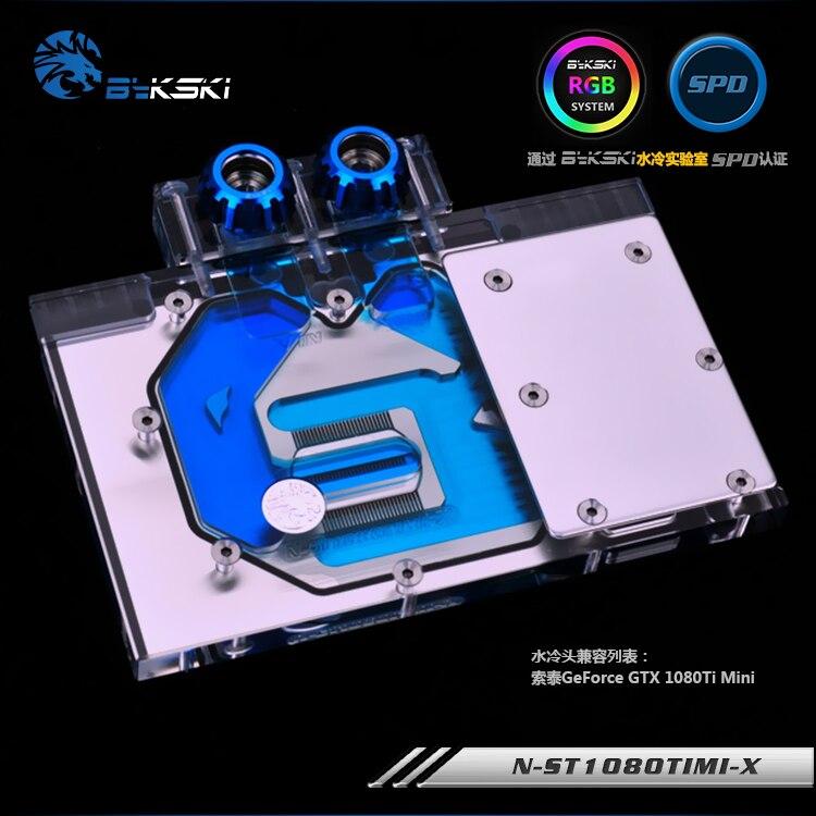 Bykski N-ST1080TIMI-X bloc de refroidissement par eau GPU pour ZOTAC GTX 1080Ti Mini