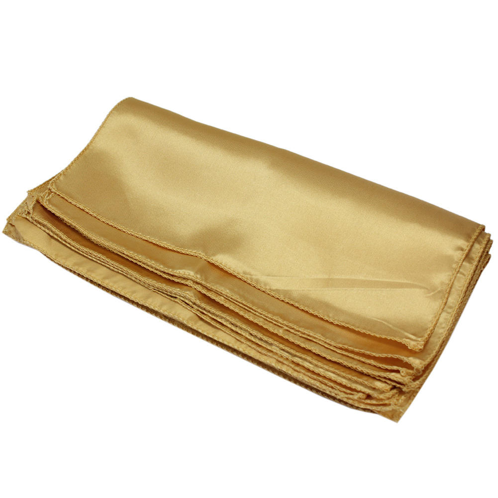 10pcs gold square cloth napkins for holiday party banquet wedding hotels decor