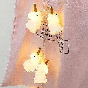 Image 3 - ユニコーン光文字列クリスマスライト Led 花輪クリスマスランプ子供の夜のランプユニコーンルミナリーホーム LED ライトの装飾