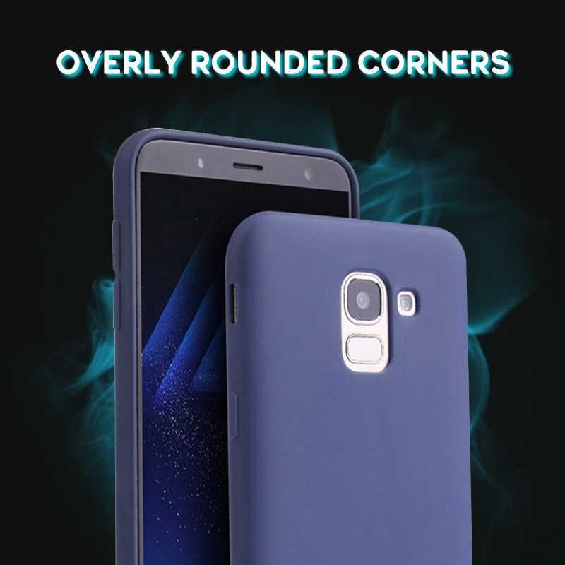 Ultra Tipis Permen Warna Case untuk Samsung Galaxy J4 J6 Plus J2 Pro J8 J7 2018 J4 Inti J5 J3 2017 J7 Duo Catatan 9 8 Silikon TPU Case