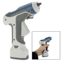 GK 368 Portable 7W/6V Cordless Hot Melt Glue Gun With LED Lights For DIY Model Living Craft 3pcs 7mm Sticks Free