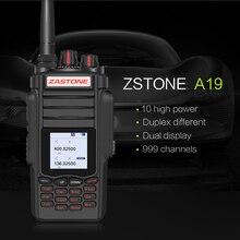 Date ZT-A19 Militaire Talkie Walkie 136-174 et 400-480 Mhz 999 CH 10 W Haute Puissance Double PTT Portable Émetteur-Récepteur FM Walkie Talkie