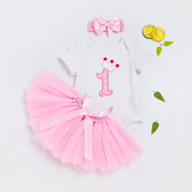 Humor Bear Baby Clothing 2018 Fashion Summer Style Baby Girl Clothes Clothing Set Cake suit Birthday Party Suit