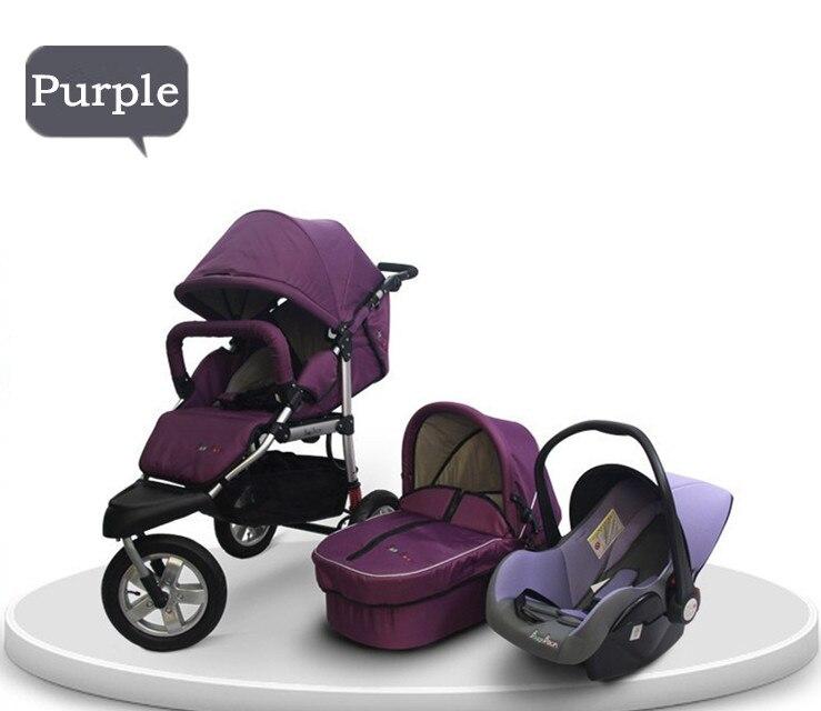 2015 New Brand Newborn 3 in 1 Baby Stroller