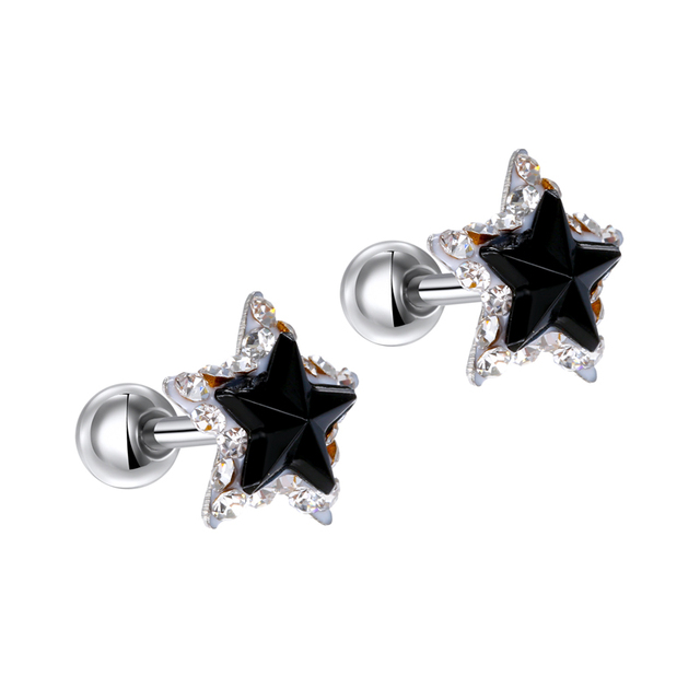 GEOMEE 1Pcs 316L Surgical Steel Star Rhinestone Cartilage Helix Barbell Ear Bar Piercing Stud Earring Brinco.jpg 640x640 - GEOMEE 1Pcs 316L Surgical Steel Star Rhinestone Cartilage Helix Barbell Ear Bar Piercing Stud Earring Brinco for Sexy Girl