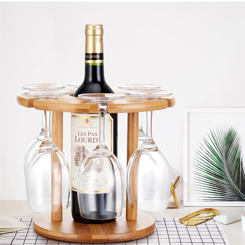 Solid Wood wine rack bottle holder Organizer Kitchen Bar Counter Wine Stand Display Shelf cup Stemware Hanging Rack home decor