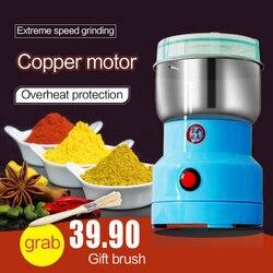 Mini elektryczne urządzenie do siekania żywności robot kuchenny mikser Blender pieprz sól czosnek przyprawy młynek do ekstremalnych prędkości szlifowania narzędzie kuchenne