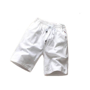 Five-Points Shorts Wear Linen Male Cotton Fashion Summer Flax Pulling Waist-Rope New-Products