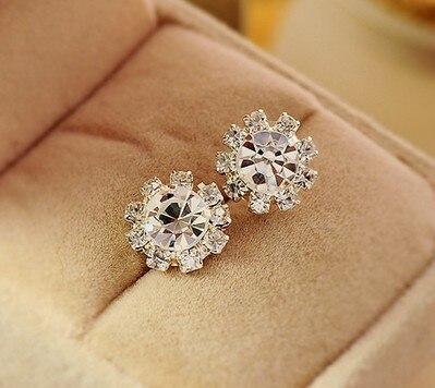 Home   Silver Flower Stud Earrings Fashion Elegant Sunflower Spherical Crystal  Cubic Zirconia Rhinestone Pendientes Women Jewelry. Previous. Next 1783bfc77a6f